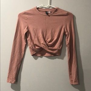 Wrapped Cropped top
